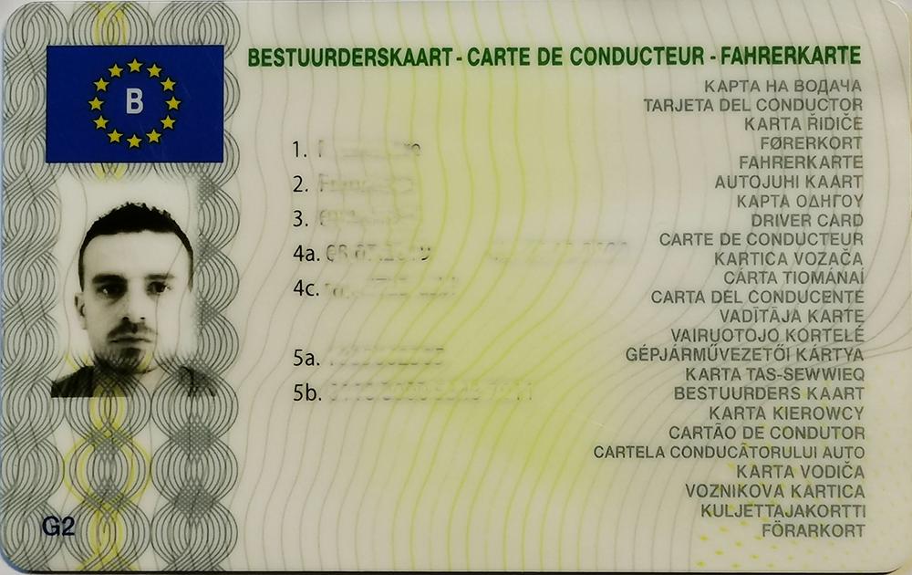 Carte Chauffeur